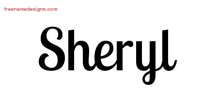 Sheryl Handwritten Name Tattoo Designs