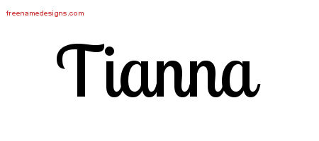 Tianna Handwritten Name Tattoo Designs
