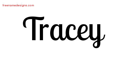 Tracey Handwritten Name Tattoo Designs