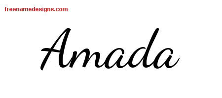Amada Lively Script Name Tattoo Designs