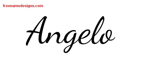 Angelo Lively Script Name Tattoo Designs