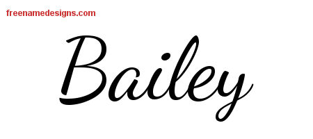 Bailey Lively Script Name Tattoo Designs