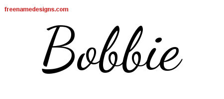 Bobbie Lively Script Name Tattoo Designs