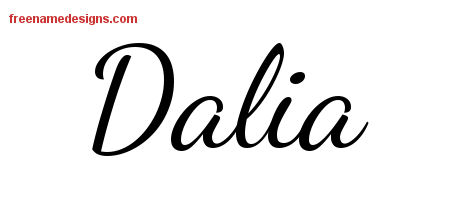 lively script name tattoo designs dalia free printout free name designs. Black Bedroom Furniture Sets. Home Design Ideas
