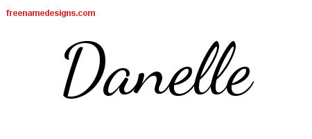 Danelle Lively Script Name Tattoo Designs