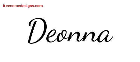Deonna Lively Script Name Tattoo Designs