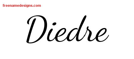 Diedre Lively Script Name Tattoo Designs