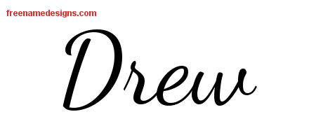 Drew Lively Script Name Tattoo Designs