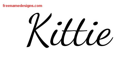 Kittie Lively Script Name Tattoo Designs