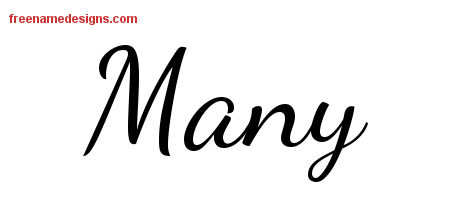 Many Lively Script Name Tattoo Designs