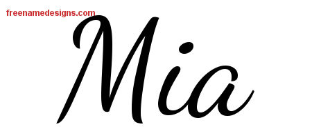 lively script name tattoo designs mia free printout free name designs. Black Bedroom Furniture Sets. Home Design Ideas