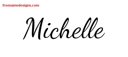 lively script name tattoo designs michelle free printout free name designs. Black Bedroom Furniture Sets. Home Design Ideas