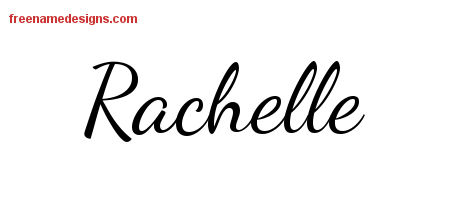 Rachelle Lively Script Name Tattoo Designs