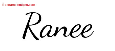 Ranee Lively Script Name Tattoo Designs