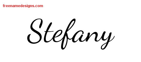 Stefany Lively Script Name Tattoo Designs