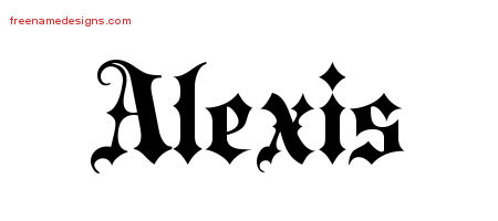 Calligraphic name tattoo designs alexis download free - Old English Name Tattoo Designs Alexis Free Free Name