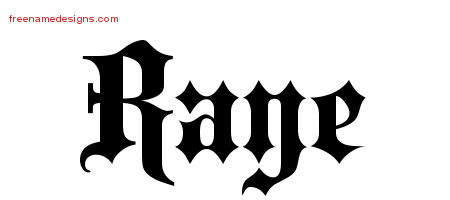 Raye Old English Name Tattoo Designs