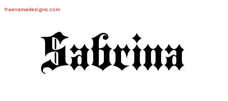 sabrina-name-design Old English Letters Template on