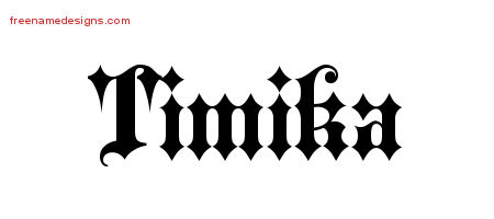 Timika Old English Name Tattoo Designs