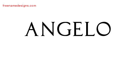Angelo Regal Victorian Name Tattoo Designs