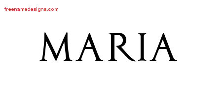 Maria Regal Victorian Name Tattoo Designs