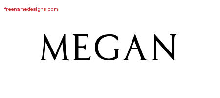 regal victorian name tattoo designs megan graphic download free name designs. Black Bedroom Furniture Sets. Home Design Ideas