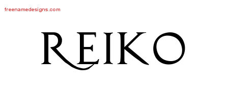 Reiko Regal Victorian Name Tattoo Designs
