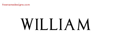 William Regal Victorian Name Tattoo Designs