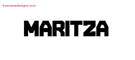 Titling Name Tattoo Designs Maritza Free Printout - Free ...