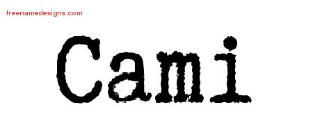 Cami Typewriter Name Tattoo Designs