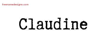 Claudine Typewriter Name Tattoo Designs