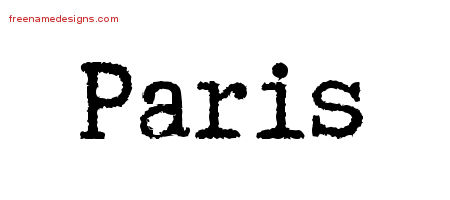 Paris Typewriter Name Tattoo Designs
