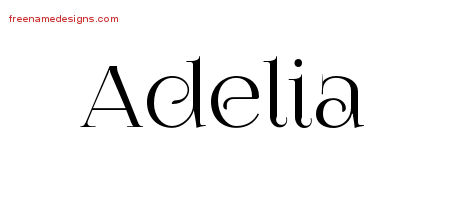Adelia Vintage Name Tattoo Designs