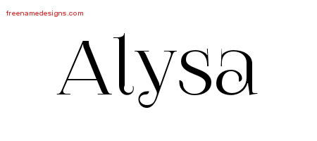 Alysa Vintage Name Tattoo Designs