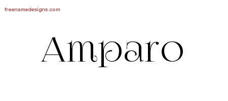 Amparo Vintage Name Tattoo Designs