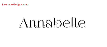 vintage name tattoo designs annabelle free download free name designs. Black Bedroom Furniture Sets. Home Design Ideas