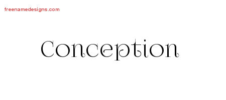 Conception Vintage Name Tattoo Designs