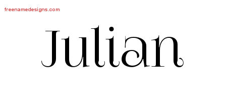Julian Vintage Name Tattoo Designs