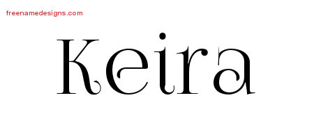 Keira Vintage Name Tattoo Designs