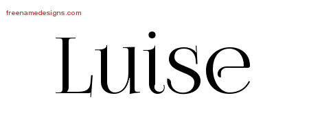 Luise Vintage Name Tattoo Designs