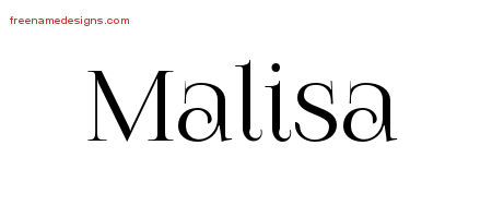 Malisa Vintage Name Tattoo Designs