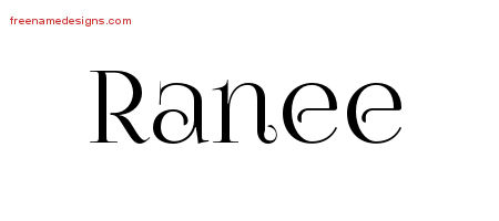 Ranee Vintage Name Tattoo Designs