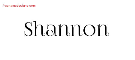 Shannon Vintage Name Tattoo Designs