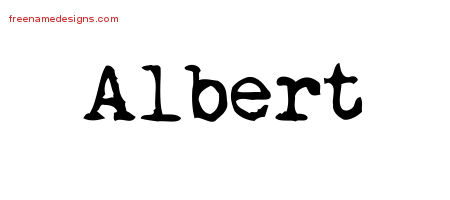 Albert Vintage Writer Name Tattoo Designs
