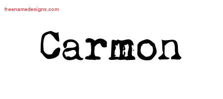Carmon Vintage Writer Name Tattoo Designs