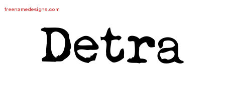 Detra Vintage Writer Name Tattoo Designs