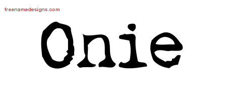 Onie Vintage Writer Name Tattoo Designs