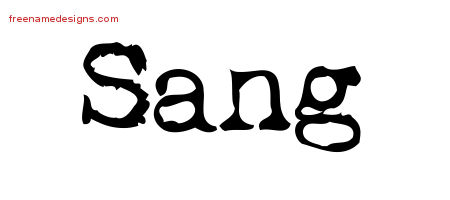 Sang Vintage Writer Name Tattoo Designs