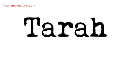 Tarah Vintage Writer Name Tattoo Designs